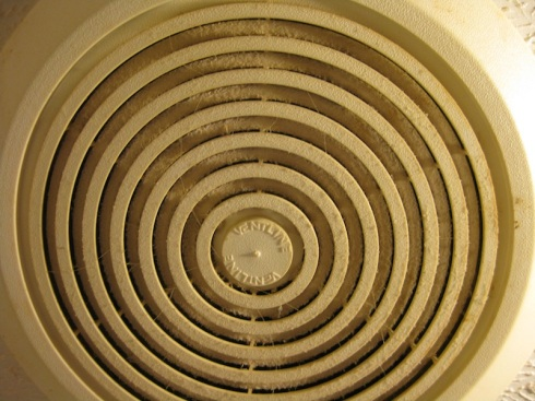 Dust in the circulating fan