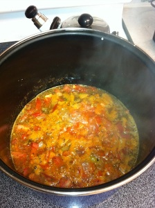 Bring to a boil then lower the heat and simmer for 35 minutes